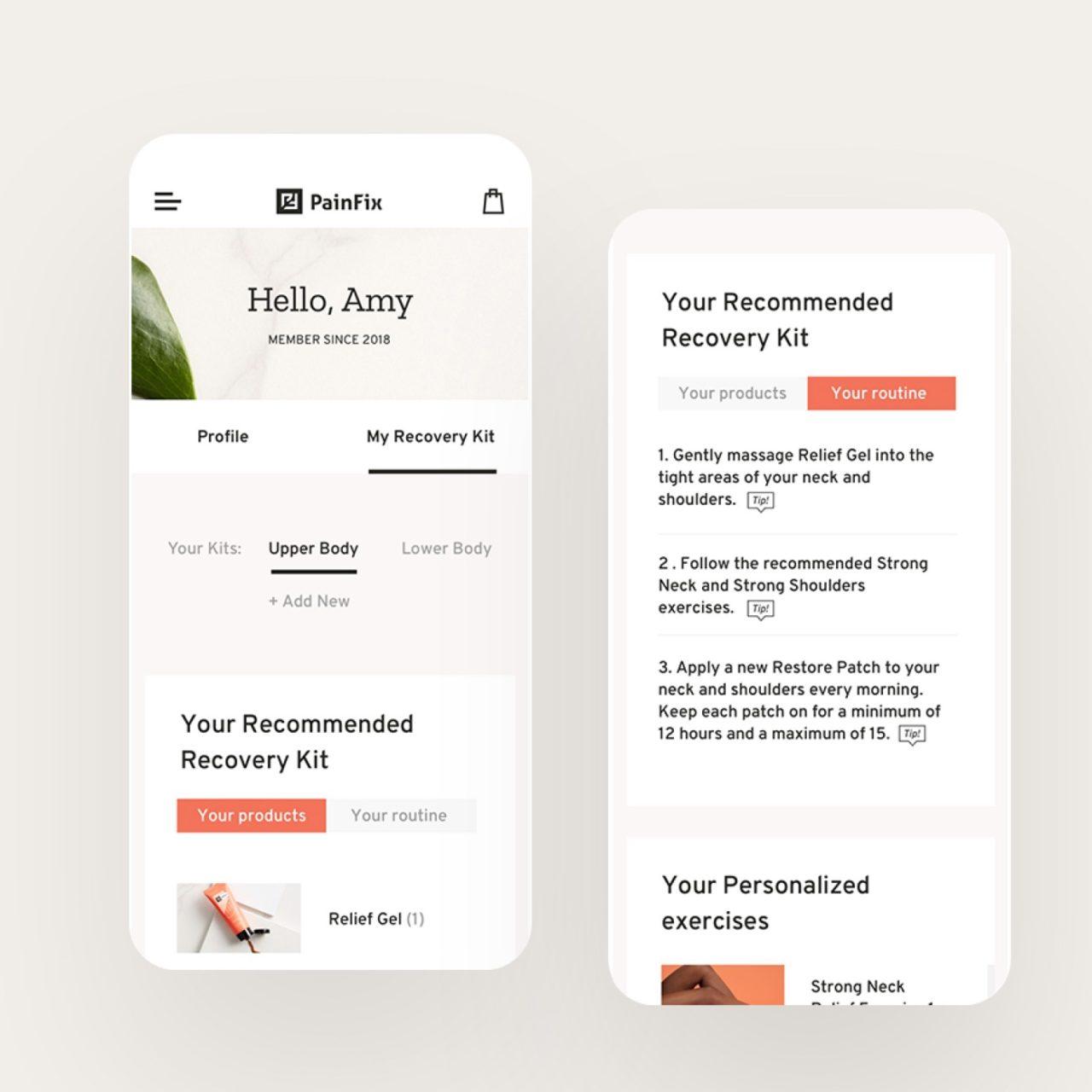 Painfix Mobile Website
